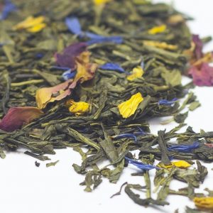 Sencha with Mango and Rose Petals