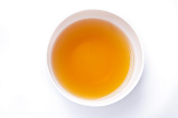 Peaches & Cream Black tea in a cup