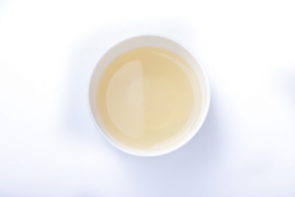 Genmaicha & Strawberries Tea in a cup
