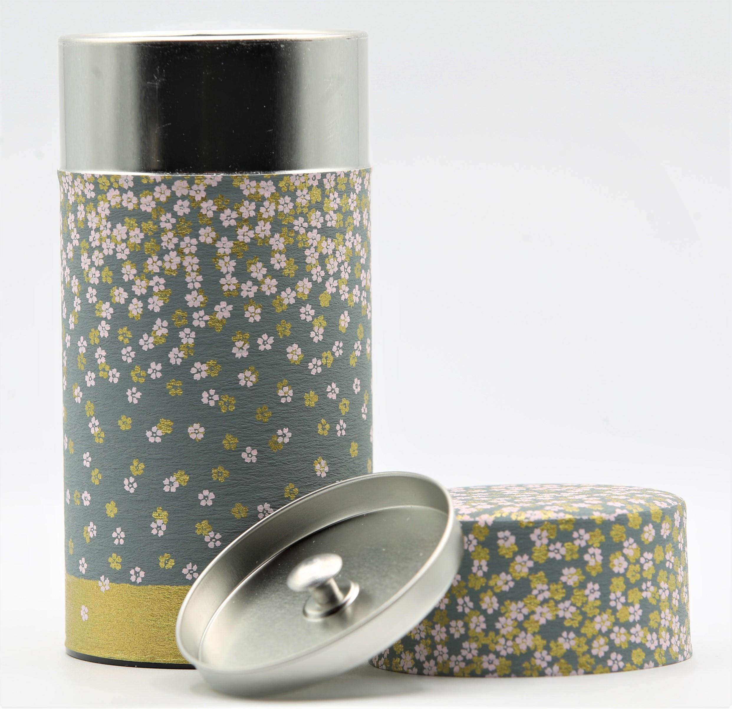 Japanese Floral Tea Tin